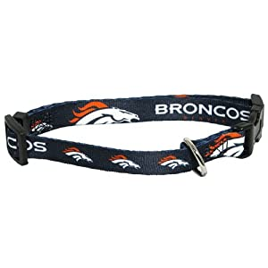 Denver Broncos Pet Dog Adjustable Collar All Sizes (Medium)