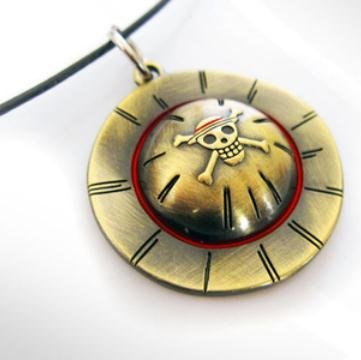 Urparcel One Piece Necklace Luffy Skeleton Straw Ace Hat Necklace