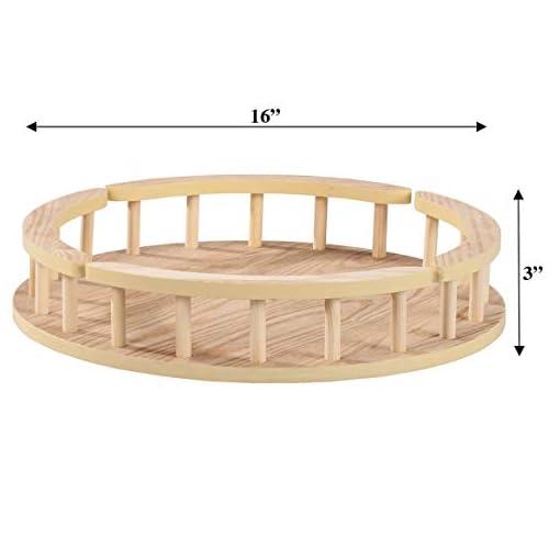 Kitchen Wood Lazy Susan Turntable, 16-Inch Diameter lazy susans