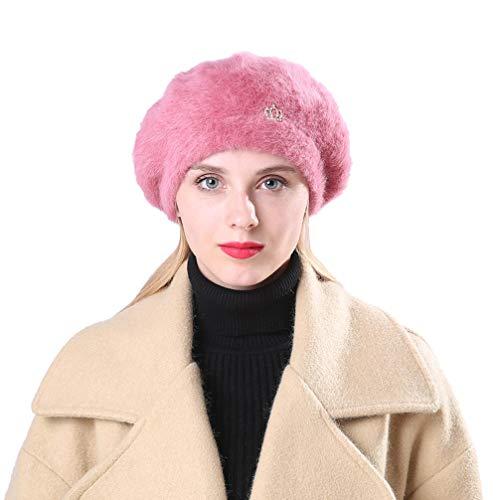 Men Women Winter Design Crown Solid Ear Protector Slouchy Berets Hat -