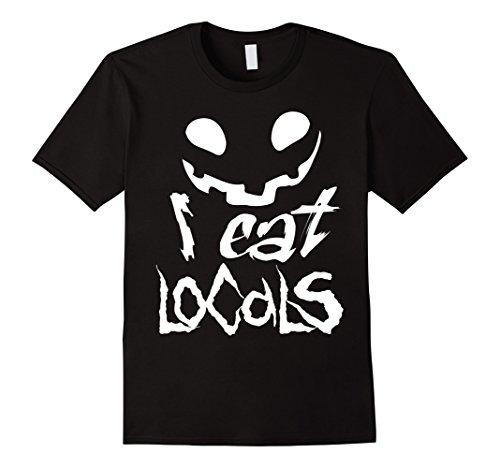 Mens I Eat Locals Funny Fang Teeth Halloween Fall Tshirt 3XL (Costume Goblin Teeth)
