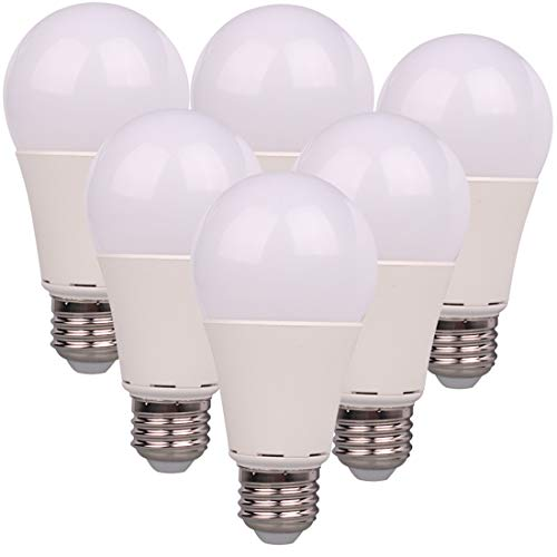 12V LED Bulb E26 7W 700Lm Low Voltage Lights AC11-18V/DC 12-24V E27 A19 lamp - 60 Watt Halogen Bulb Equivalent- 12 Volt Battery Power System Interior Off Grid Solar Lighting- 6 Pack (3000K Warm White)
