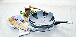 WaxonWare 11 Inch Non Stick Frying Pan / Skillet With STONETEC (PTFE, PFOA and APEO Free) Ceramic Non-Stick Coating With Induction Bottom & Table Trivet