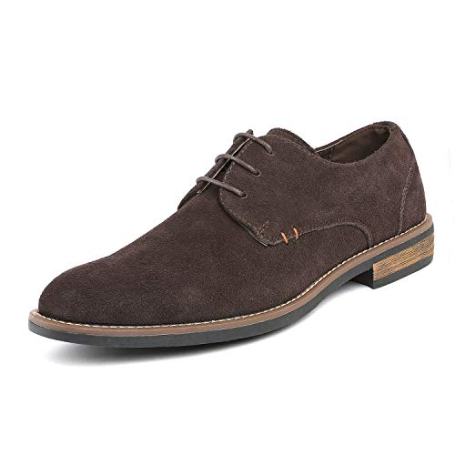 Bruno Marc Men's URBAN-08 Dark Brown Suede Leather Lace Up Oxfords Shoes - 9.5 M US