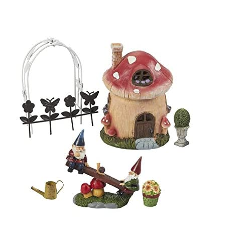 Discount Juvale 7 Piece Garden Gnomes - Ornament set, Gnomes Miniature Figurines, Garden Ornaments for Outdoor hot sale BxCtp9Pw