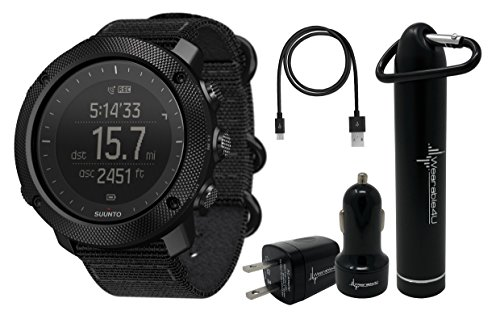 Suunto Traverse Alpha GPS/GLONASS Watch with Versatile Outdoor Functions for Fishing and Hunting and Wearable4U Ultimate Power Pack Bundle (Stealth) by Wearable4u (Image #4)