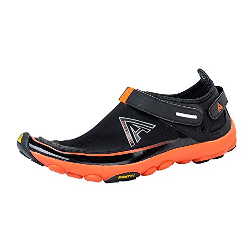 HUMTTO Unisex Athletic Water Shoes Man and Women Swim Walking Lake Beach Boating Shoes 1327/2327 Black