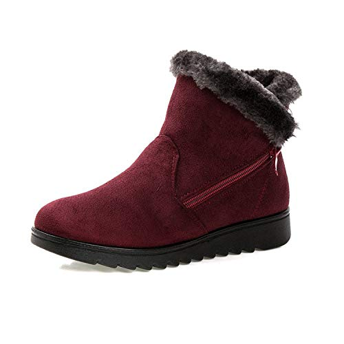Used, Winter Keep Warm Cozy Shoes Women Ankle Boots Flat for sale  Delivered anywhere in USA