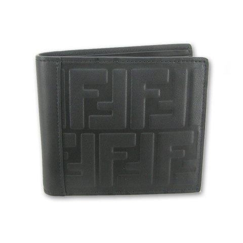 フェンディ FENDI メンズ 折財布 サイフ 7M0169 A18A F0SAJ ブラック 18ss [並行輸入品] B07F61XV2W  ブラック