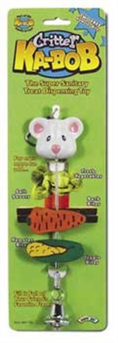 (Super Pet Critter Ka-Bob Treat Dispenser Cage Toy (8 Inch L x 1 1/2 Inch W))