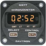 1 Pc, Chronometer/Led Digital Clock With 5V Illuminating Buttons, Displays Universal Time, Local Time, Flight Time, And Elapsed Time, 2 1/4 Internal Mount, 2-Button Control, Sunlight Readable