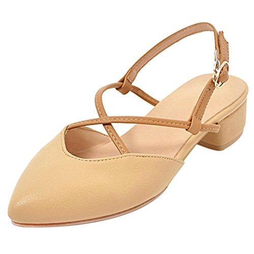 Sandales apricot Talons Femmes RAZAMAZA Bas B5aSnq