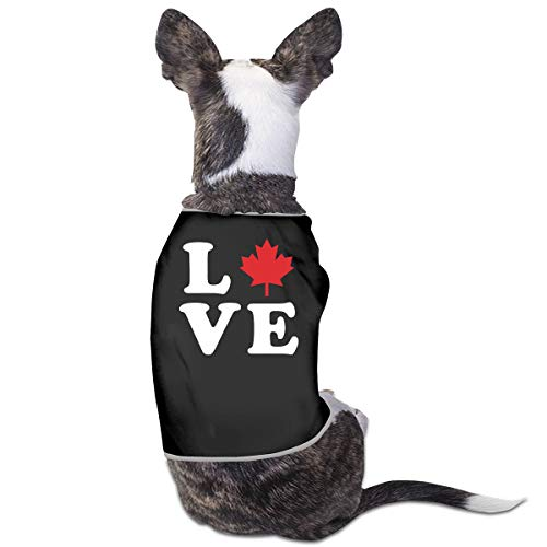 LNUO-2 Pet Clothes, Love Canada Maple Leaf Dog Cat Vest -