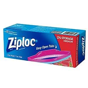 Ziploc Storage Bag Medium, 24 count