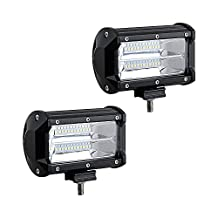 "LED Pods Light 2X 5"" 77W Off Road Spot Beam Work Light Bar Driving Fog Lights for ATV UTV SUV Jeep Marine Boat"