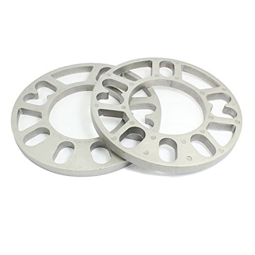 UXOXAS Car Automobile 15cm Dia 10mm Thickness Wheel Rims Spacers Silver Tone by UXOXAS