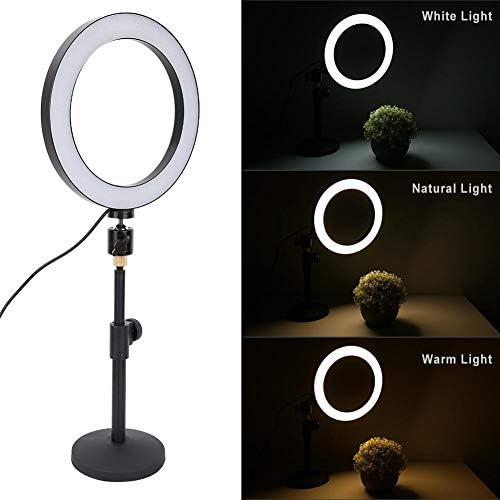 VBESTLIFE LED-Ringlicht, 20cm Dimmbares LED-Ringlicht-Kit mit 360 Grad,Kamera LED-Licht mit Bluetooth Fernbedienung,Geeigent für Fotografie,Make-up,Mobile,Live-Übertragung.