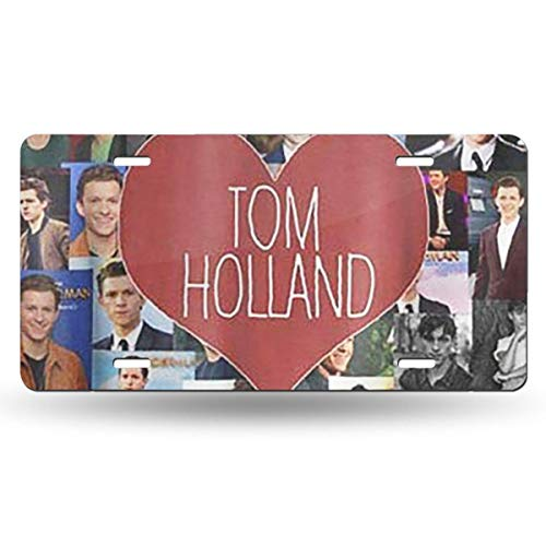 License Plate Tom Holland Funny Auto Car Tag Metal Cover Vehicle Plaque Bar Wall Decor -
