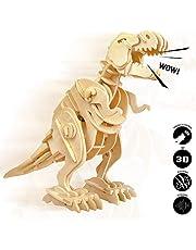 ROBOTIME Madera Jigsaw Puzzle 3D Dinosaurios Montar Wood Craft Mejor Cumpleaños Niños para Adultos