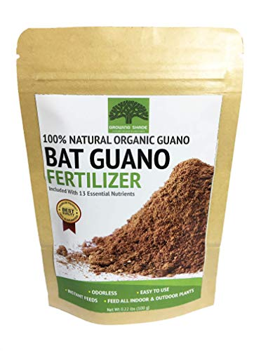 Growing Shade 100% Bat Guano Natural Cave Organic Fertilizer Nutrients Plants Indoor Outdoor (0.22) - Guano Bat