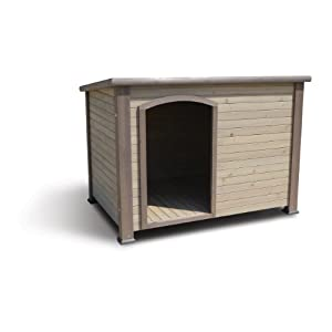 Precision Pet by Petmate Weather-Resistant Log Cabin Dog House with Adjustable Feet, 4 39