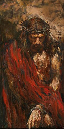 Osm Art Handmade Abstract Portrait Paintings Modern Large Artwork Wall Decor Hand-painted Canvas Jesus Christ Figure Knife Oil Paintings by Osm Art