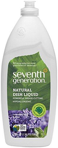 - Seventh Generation Natural Dish Liquid 22734, Lavender Floral & Mint, 25-Ounce Bottle