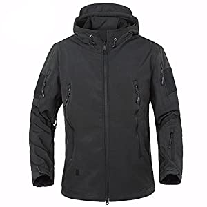 BELLOO Men Combat Jacket Waterproof Softshell Fleece Jackets With ...