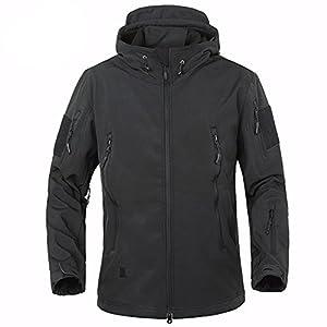 BELLOO Men Combat Jacket Waterproof Softshell Fleece Jackets With ...