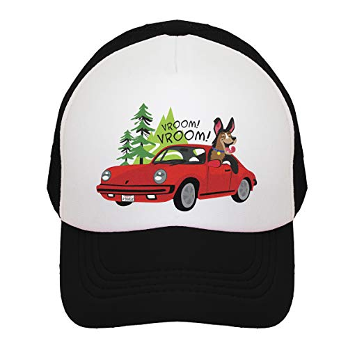 JP DOoDLES Porsche Sports Car on Kids Trucker Hat. Available in Baby, Toddler, and Youth Sizes. (Kiddo (2-5 YRS), Black)]()