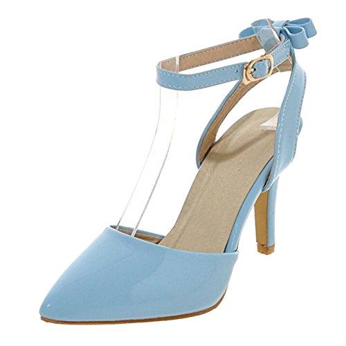 COOLCEPT Damen Solid Riemchensandalen Schuhe Bogen Blue