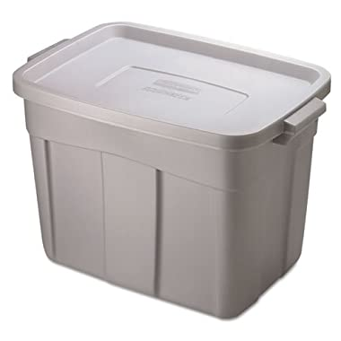 Rubbermaid Roughneck Storage Box, 18 gal, Steel Gray - Includes one each.