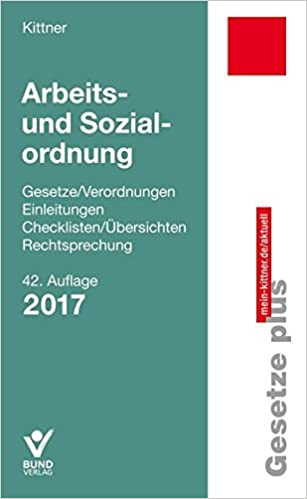 Arbeits Und Sozialordnung Gesetzeverordnungen Einleitungen