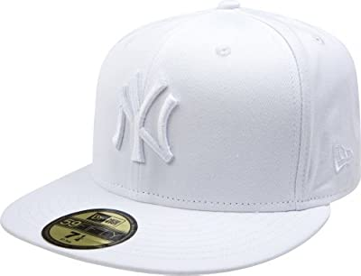 New Era 59Fifty White on White New York Yankees Fitted Cap