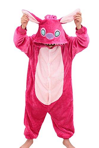Tonwhar Kids Stitch Kigurumi Pajamas Children's Unisex Cosplay Costume Onesie (140(height:52