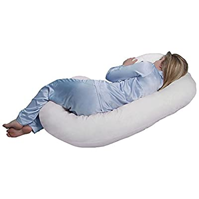 Pillow Pregnancy C Shape Total Body Maternity Comfort Support Contoured Shaped Nursing Sleeping
