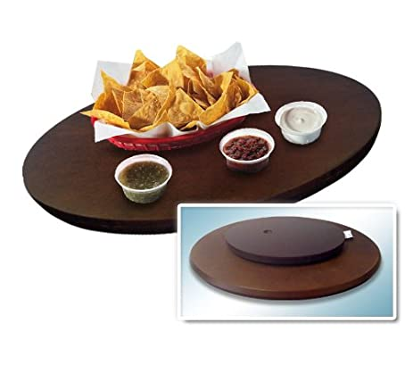 Snack Tray Swivel Wood Turntable 22u0026quot; ...