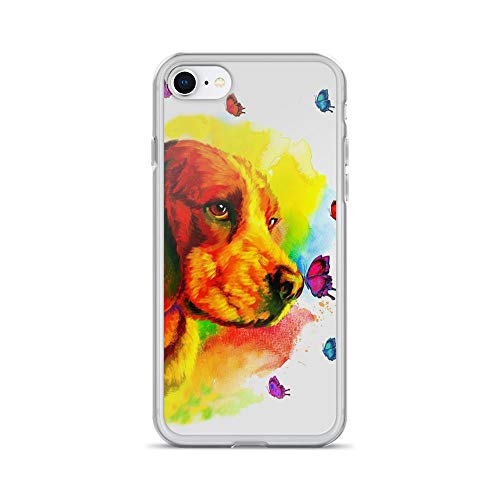 iPhone 7/8 Pure Clear Case Cases Cover Beautiful Golden Retrieve Dog Watercolor Art Animal Lover