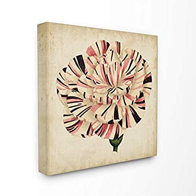 Stupell Industries Striking Striped Tulip Bloom Aged Painting Canvas Wall Art, 30 x 30, Multi-Color