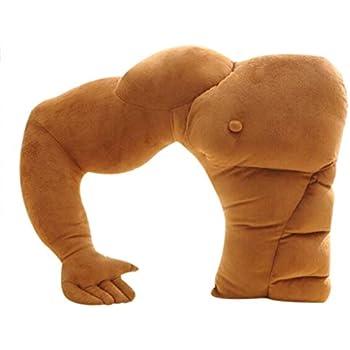 chinamaker Giliguala Boyfriend Husband Cuddle Buddy Pillow Muscle Man Body Arm Pillows Joke Toy Gag Gift for Companion Birthday Valentines Day Left