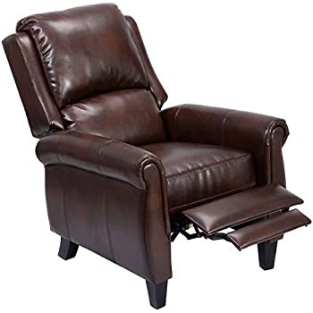 Giantex PU Leather Recliner Chair Push Back Club Living Room Seat Furniture w/Footrest (  sc 1 st  Amazon.com & Amazon.com: Lloyd Black Leather Recliner Club Chair: Kitchen u0026 Dining islam-shia.org
