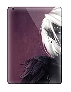 Ipad Air Hard Back With Bumper Silicone Gel Tpu Case Cover The Black Elf Fantasy Abstract Fantasy