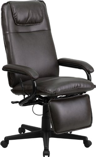 42' Leather Black Seat (Offex OF-BT-70172-BN-GG High Back Leather Executive Reclining Office Chair, Brown)