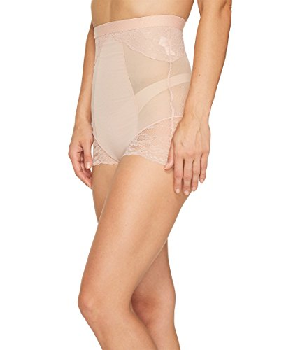 SPANX Lace Collection High-Waist Brief, L, Vintage Rose