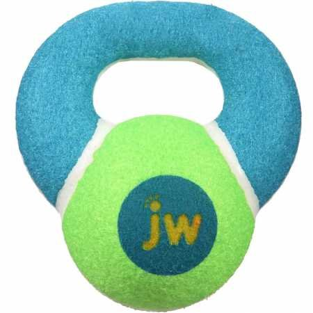 (JW Pet Company 42208 Proten Kettle Ball for Pets, Small, Assorted Colors (Green/Pink or Green/Blue))