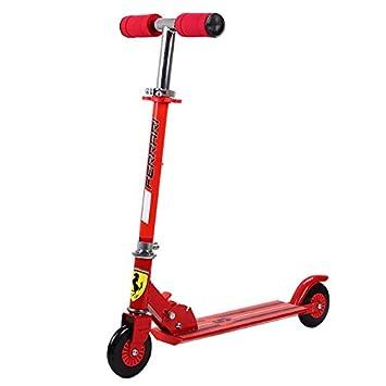 Ferrari Patinete con dos ruedas, color rojo: Amazon.es ...