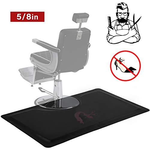 Anti Fatigue Mat Salon Mats for Hair Stylist 5/8 in. Thick 3 ft. x 5 ft. Barber Shop Beauty Comfort Salon Chair Mat Floor Rectangel