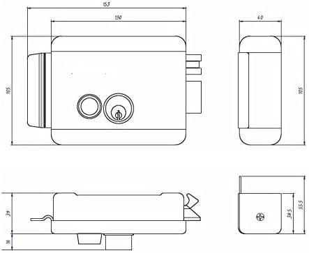 Cerradura electrica puerta batiente automática, electrocerradura con pulsador 9-12v dc - VDS puerta garaje batiente automatica o peatonal: Amazon.es: Belleza