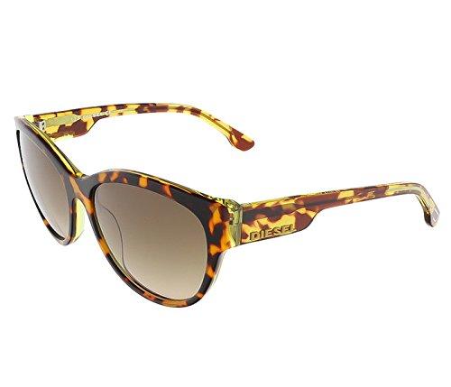 Diesel Plastic Sunglasses - Diesel DL00135756P Cat-Eye Sunglasses,Brown,57 mm