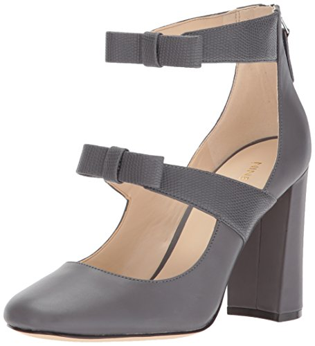 Nine West Women's Danell Pump Dark Grey Leather cheap new styles outlet very cheap free shipping really XZuFkd
